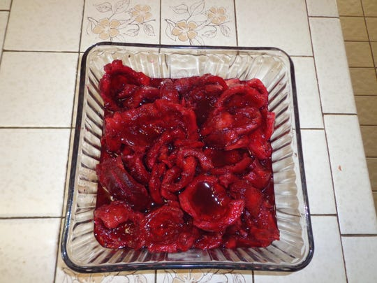 This is how your fully-prepared cactus fruit flesh should appear when it's ready for adaptation to your recipe.