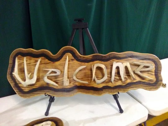 This was one of three Welcome signs offered during the IDEFA benefit auction. The signs were very popular before and during the auction.