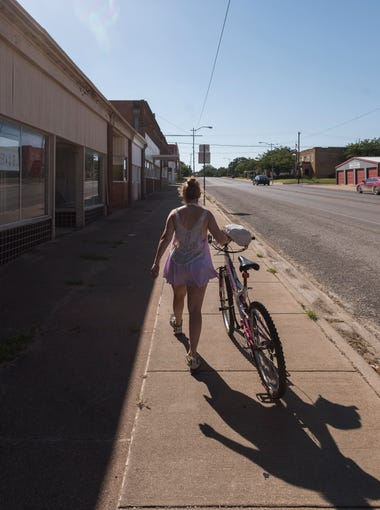 Many of the buildings in Ranger, Texas, are vacant