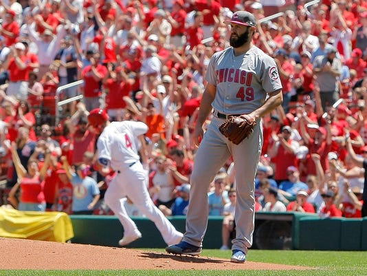 USP MLB: CHICAGO CUBS AT ST. LOUIS CARDINALS S BBN STL CHC USA MO