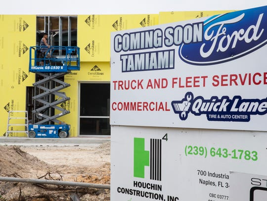 Construction continues on the new Tamiami Ford fleet