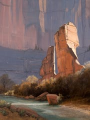 """The 2001 painting """"Pulpit of Sinewava"""" is among Jim Jones' depictions of Zion National Park."""