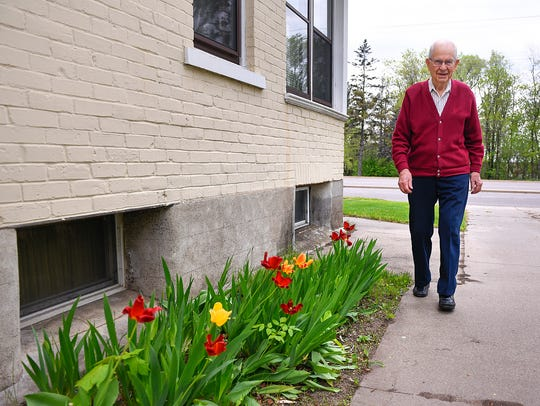 Al Ringsmuth is the former mayor of Waite Park and lifelong resident of the city. He is shown Monday, May 9, 2016 at his home in Waite Park.