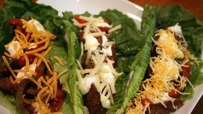 Beef Fajita Romaine Lettuce Wraps.