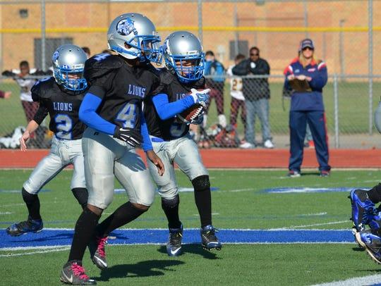 Lions freshmen running back Caleb Williams (No. 5)