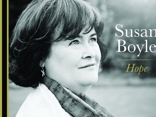"""Susan Boyle's sixth album, """"Hope,"""" comes out Tuesday."""