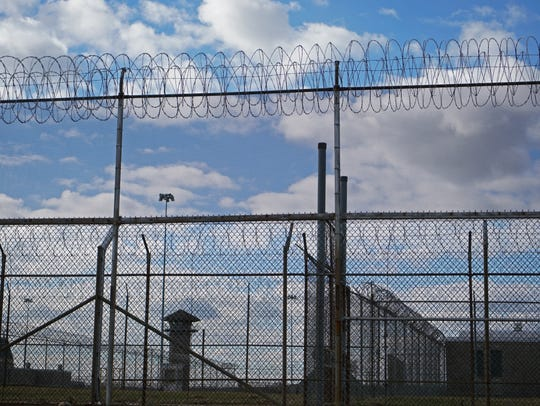 Security fencing at James T. Vaughn Correctional Center.