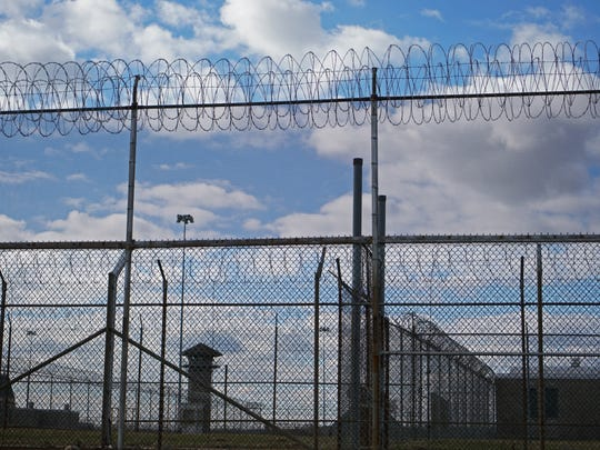 Security fencing at Jame T. Vaughn Correctional Center.