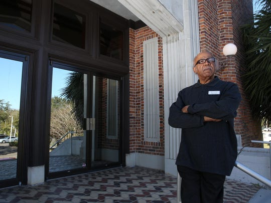 Henry Steele, who was involved locally in civil rights activities in the '50s and '60s, stands outside of the Tallahassee Senior Center, where he currently works as health program assistant.