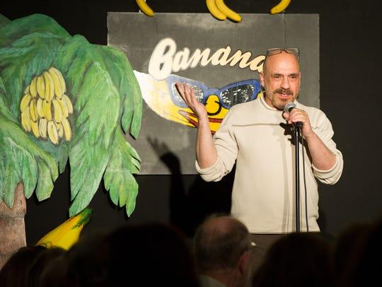 Columnist Bill Ervolino performing at Bananas Comedy