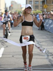 Jill Skivington of Rochester is the first woman to