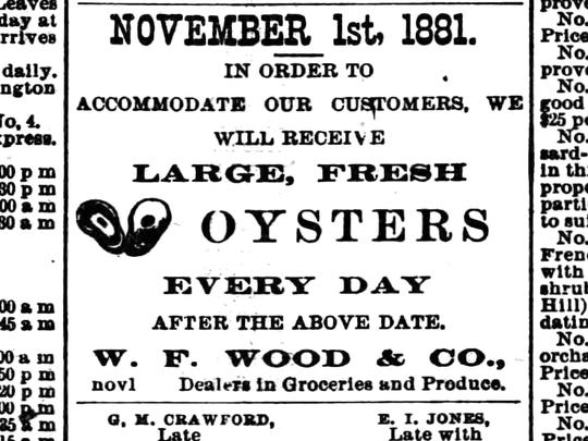 An ad from the Staunton Spectator printed on Tuesday, Nov 15, 1881.
