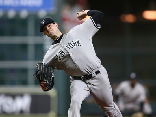 May 1, 2018; Houston, TX, USA; New York Yankees starting
