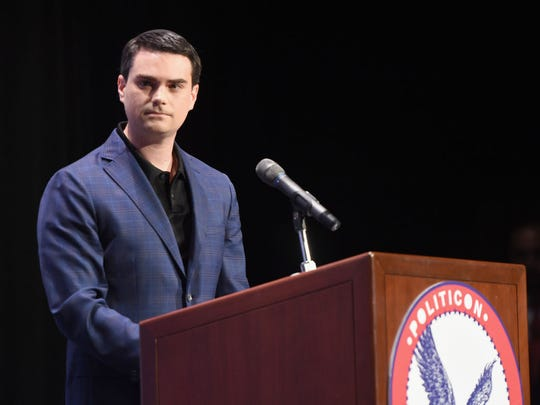 Ben Shapiro at the 'Cenk Uygur vs. Ben Shapiro' panel during Politicon at Pasadena Convention Center on July 30, 2017 in Pasadena, California.  (Photo by Joshua Blanchard/Getty Images  for Politicon)