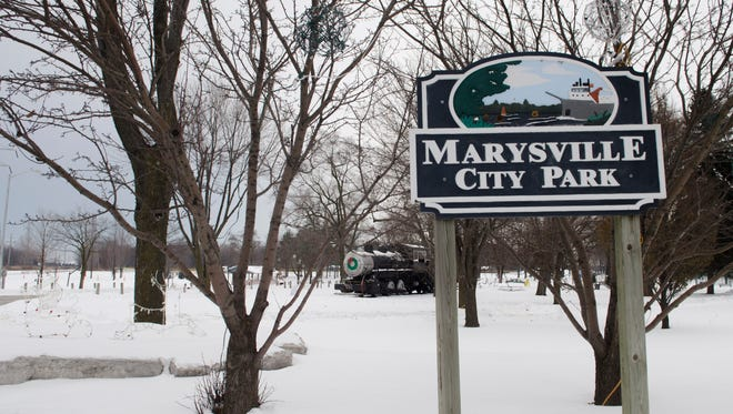 One of the entrance to the Marysville City Park. City of Marysville is getting a $100,000 grant to plant trees in the Marysville City Park, Morton Park and along Gratiot Blvd.