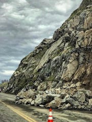 A rock slide closed portions of the General's Highway this weekend.