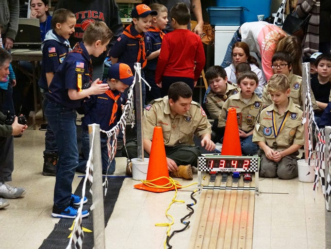 Zanesville's Boy Scout Pack 128 held its annual Pinewood
