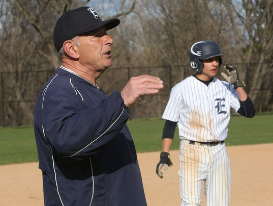 HS baseball Dom Cecere Eastchester coach