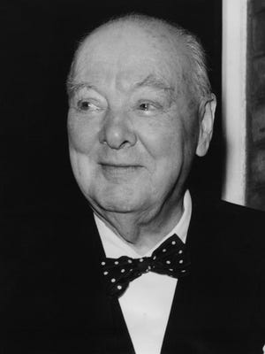 An undated photo of Sir Winston Churchill.