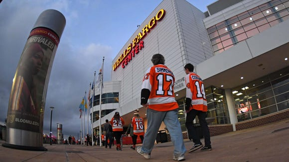 Wells Fargo Center will play host to a playoff hockey game for the first time in two years.