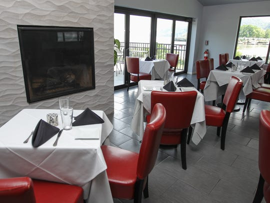 The dining room at Catch on Hudson in Haverstraw on