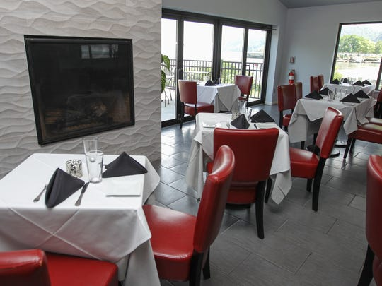 The dining room at Catch on Hudson in Haverstraw on Friday, July 21, 2017.