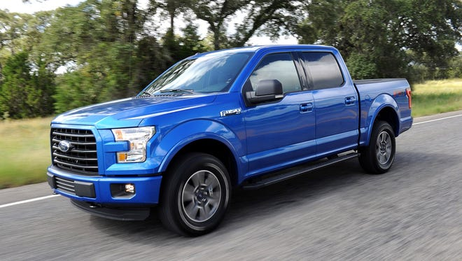 The all-new 2015 Ford F-150 on the streets of San Antonio.: