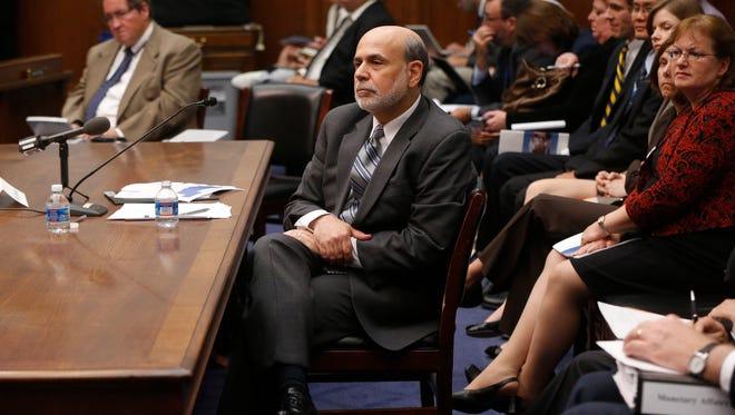 In this July 17, 2013, file photo Federal Reserve Chairman Ben Bernanke testifies in Washington.