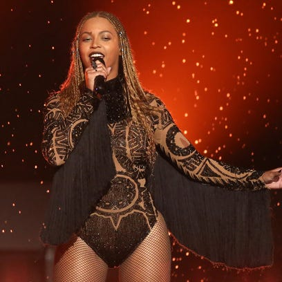"""Beyonce performs """"Freedom"""" at the 2016 BET Awards in"""