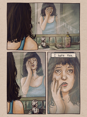 "Maria Sweeney's illustrations from her ""In a Rut"" comic series"