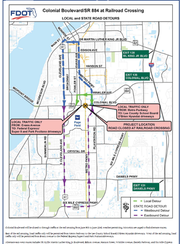 A detour guide for the Colonial Boulevard and Metro