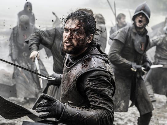 Kit Harington in a scene from 'Game of Thrones' in