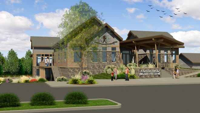 Gordon Bubolz Nature Preserve officials released a rendering Wednesday of the planned $5 million environmental center.