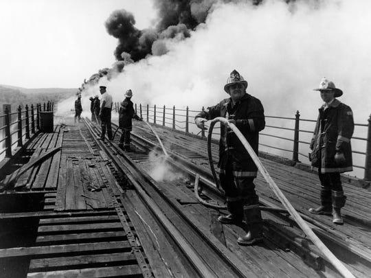 Fire on the Railroad Bridge, 1976.