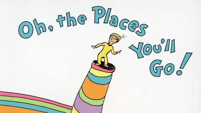 Cover of 'Oh, the Places You'll Go' by Dr. Seuss.
