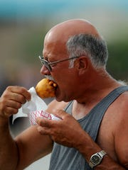 Rick Gaylor tries his first Viking at the Montana State Fair.