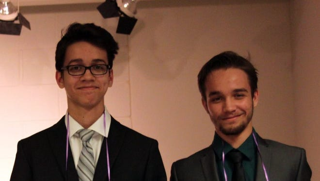 """SCLSNJ's Teen Tycoons first place winners, Nicholas and Ryan Cook of Bridgewater Raritan High School. The brothers pitched the idea a """"build your own computer store"""" that would save customers 50% on the cost of a computer."""