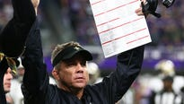 Several Vikings fans say Saints coach was doing a  a mock SKOL clap right before Case Keenum's miracle touchdown pass.