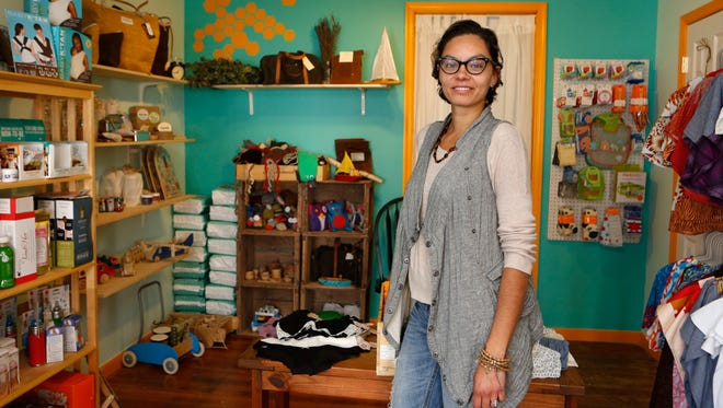 Michelle Bernardi opened Nettle & Hive, a natural supply store for parents and children in Nyack. Bernardi stocks everything from children's toys and clothes to home goods.