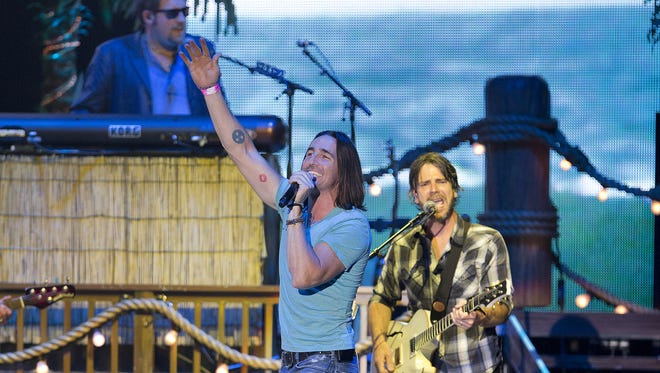 Jake Owen performs in the Pacific Steel and Recycling Four Season Arena Wednesday during the State Fair.