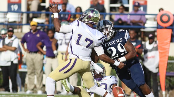 JSU defensive end Javancy Jones forced two fumbles against Alcorn State on Saturday.