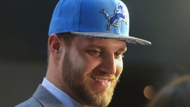 Detroit Lions first round draft pick Taylor Decker.