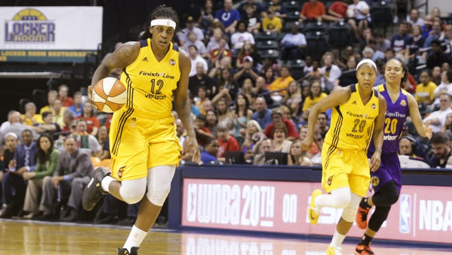 Lynetta Kizer led the Fever with 21 points in their 82-70 win over New York on Thursday, July 21.