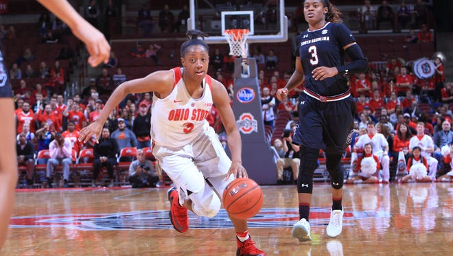 Ohio State will feature a Player of the Year candidate FGCU coach Karl Smesko said could be the No. 1 pick of the 2017 WNBA Draft – point guard Kelsey Mitchell. She's averaging 24.3 points, 3.5 assists and has made 16 3-pointers.