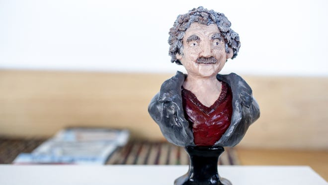 Sculpture by Erin Case for the Tiny VI: The Year of Vonnegut group show at Gallery 924.