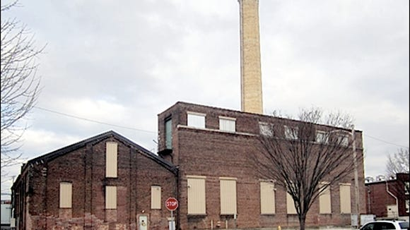 Eastward Looking View of Former Steam Plant along Pershing Avenue in York, PA (2015 Photo, S. H. Smith)