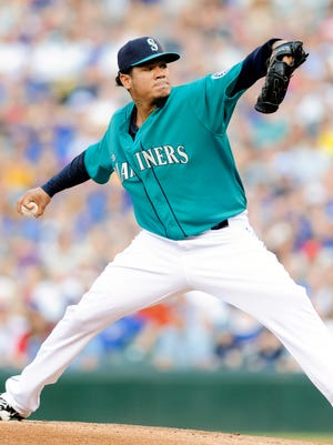 Felix Hernandez made his 16th straight start of at least seven innings while allowing two earned runs or less.