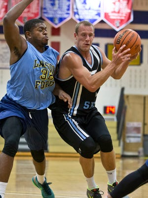 Opening night of Jersey Shore Basketball League features Shore vs Larson Ford.Wall Township, NJ Tuesday, June 28, 2016@dhoodhood
