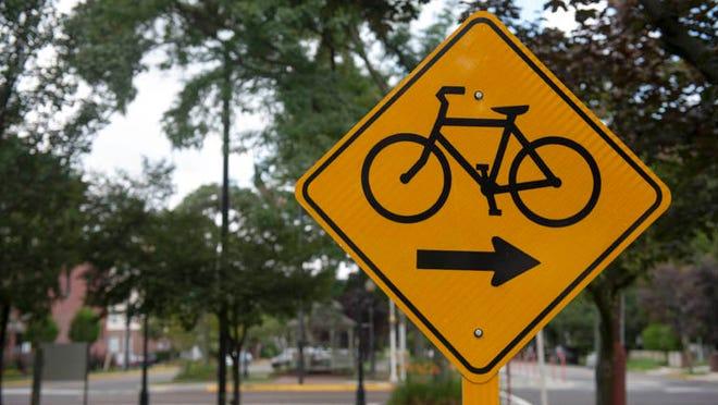 Scenes along the bike trail in Merchantville on Wednesday, August 13, 2014.