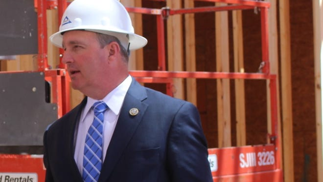 After touring the construction site of a nursing home in Greenwood, U.S. Rep. Jeff Duncan announced Monday that he won't run for governor next year.